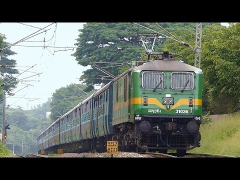 POWERFUL GREEN Heart in Bangalore : INDIAN RAILWAYS WAG-9