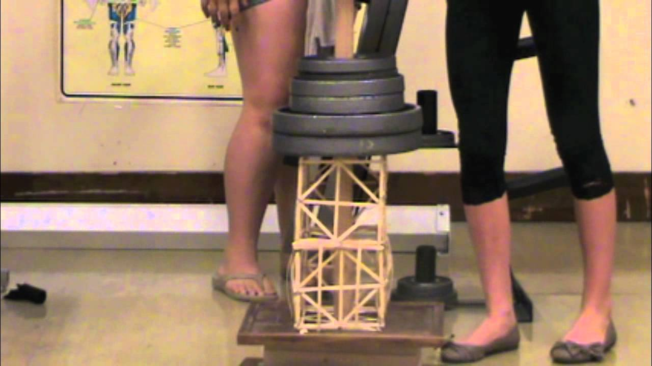 Toothpick Tower Earthquake Project 2012 Springvalley