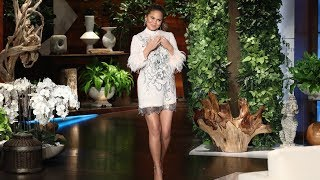 Chrissy Teigen is Unsure on How to Pose in Photos with Kanye West
