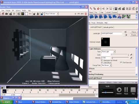 Maya Lighting Fog Effects With Glass Tutorial, Maya New Tutorials
