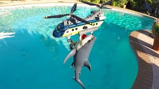 Shark attacks Lego Helicopter