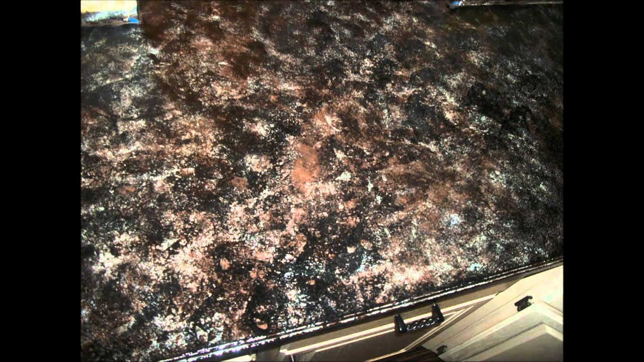 Paint Countertop Faux Marble : How to create Faux Granite Countertops - YouTube