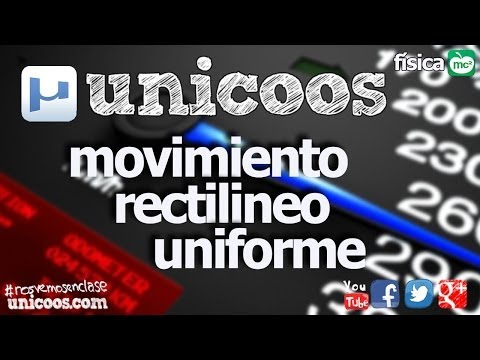 FISICA MRU 01 4ºESO unicoos Movimiento Rectilineo Uniforme