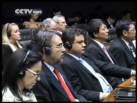 Xi Jinping delivers speech at the National Congress of Brazil