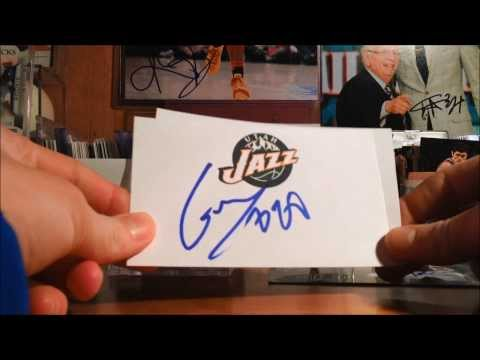 UTAH JAZZ @ MILWAUKEE BUCKS IP AUTOGRAPH RECAP (3-3-14) *TREY BURKE*