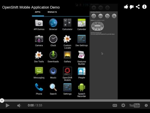 OpenShift Mobile Application Demo