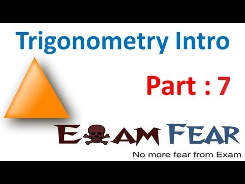 Maths Introduction to Trigonometry part 7 (30 , 45 degree ratio) CBSE class 10 Mathematics X