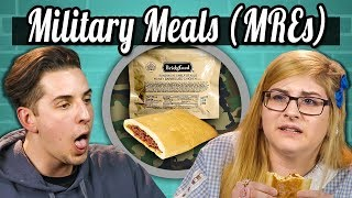 COLLEGE KIDS EAT MILITARY MEALS (MREs)!   College Kids Vs Food