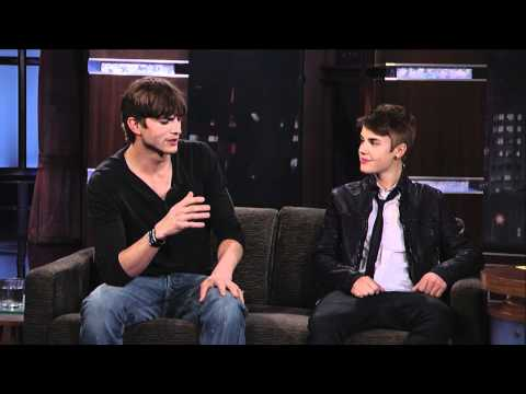 Ashton Kutcher and Justin Bieber on Jimmy Kimmel Live PART 1