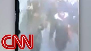 Camera shows moment of New York subway blast