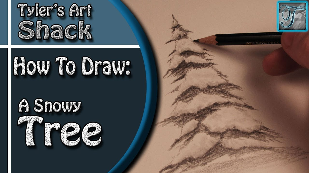 how to draw snow with pencil