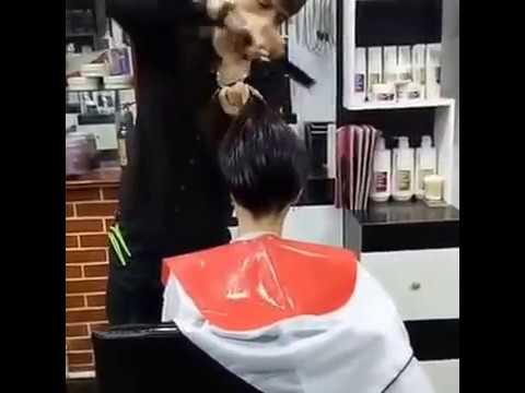 Hướng dẫn Cắt tóc chiếc lá tầng cao (cắt phiêu cực nhanh) - [Phú Hải]