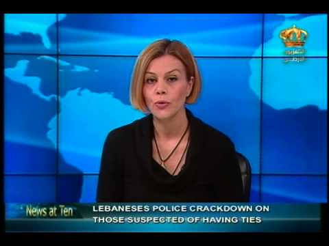 English News at ten in Jordan Television 20-06-2014
