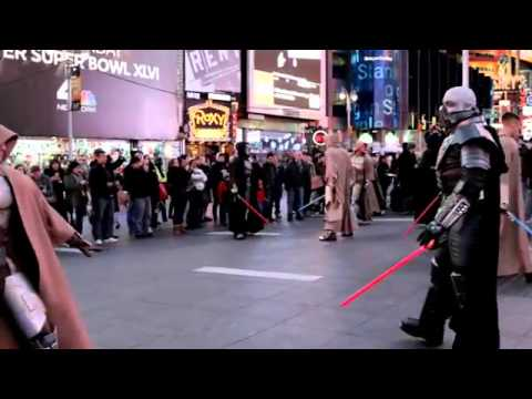 STAR WARS  The Old Republic   Times Square Freeze Mob 12 20 11   YouTube