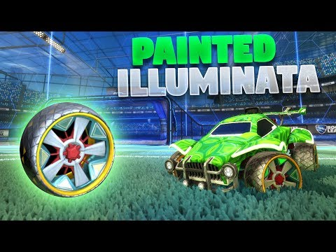 ALL PAINTED 'ILLUMINATA' WHEELS ON ROCKET LEAGUE (New Rocket League Showcase)