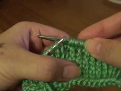 Make M1 Knitting Stitches : M1 (Make 1)-Knitting Increase Stitch - YouTube