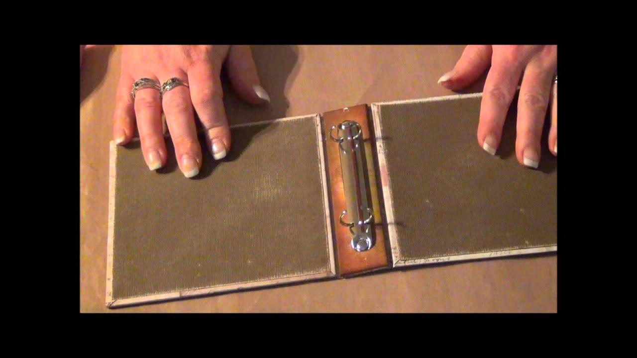 Tim Holtz Binder Ring Mini Part 2 Wmv Youtube