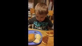 Toddler is disgusted by sloppy joe, he thinks its poop!