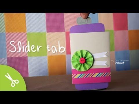 Slider Tab: Tarjeta Scrapbook San Valentín // Card