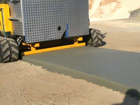 a brick path laying machine