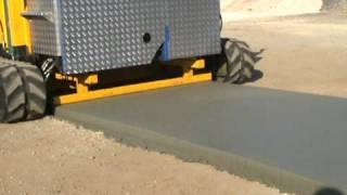 Sorprendente máquina de pavimentar