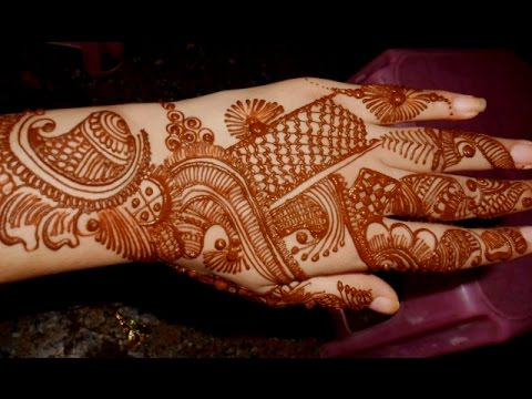 Full Hand Indian Arabic Eid Mehndi/Simple Mehendi Design For Festival :)