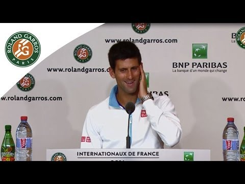 Press conference Novak Djokovic French Open R1