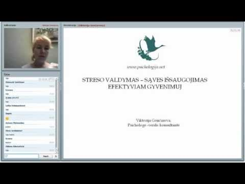 2012.11.29 Viktorija Gončarova. Streso valdymas - savęs išsaugojimas efektyviam gyvenimui. IŠTRAUKOS