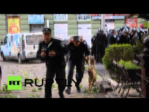 Odessa violence video: Brutal clashes erupt in Ukraine's southern port-city