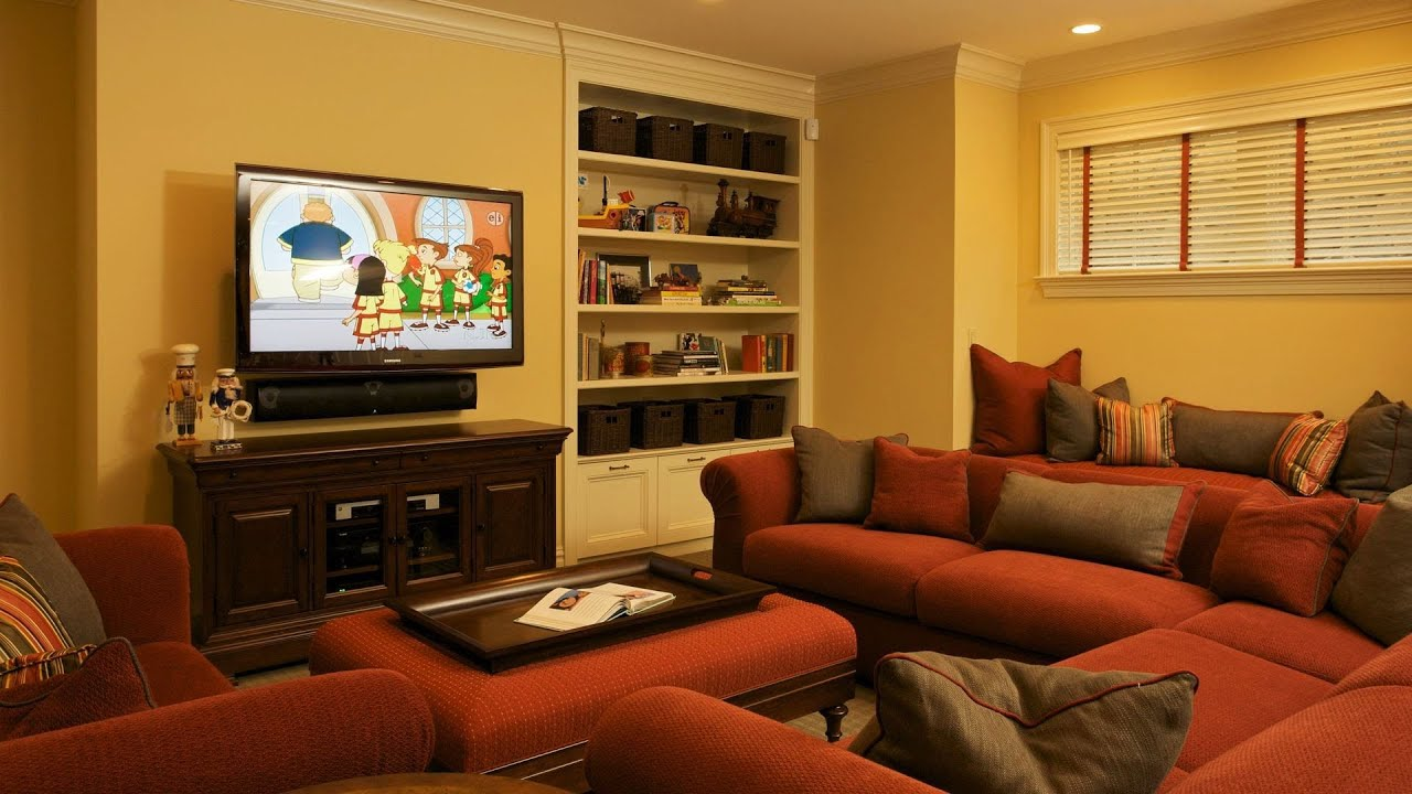 Arrange furniture around fireplace tv interior design for Tv room arrangements