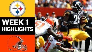 Steelers vs. Browns   NFL Week 1 Game Highlights