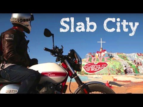 Slab City / Moto Guzzi V7 Stornello / MotoGeo Adventures