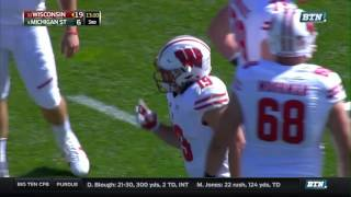 Wisconsin at Michigan State - Football Highlights