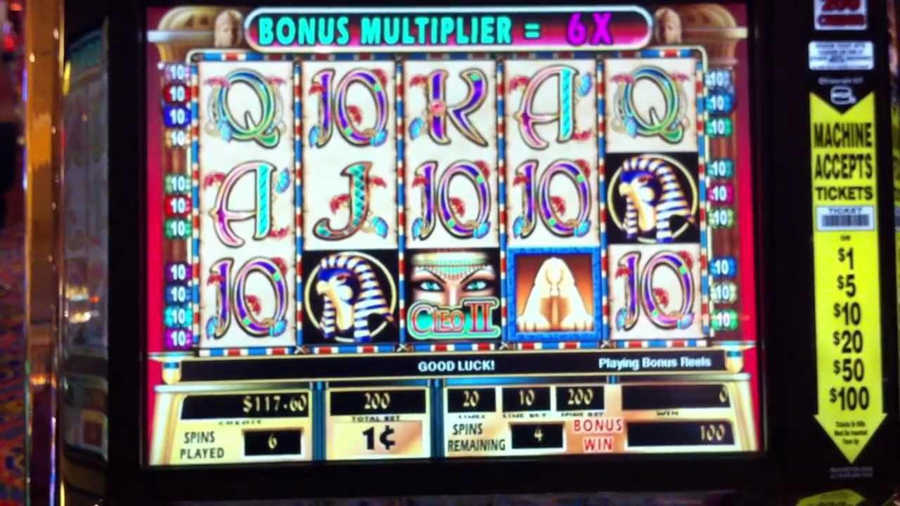 Cleopatra ii slot machine free play