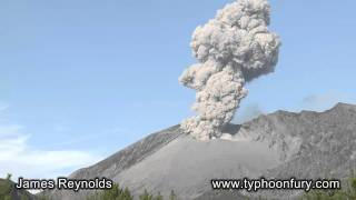 桜島火山 Eruptions at Sakurajima Volcano, Japan on 23rd & 24th Sept 2011