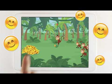 Learn through play with Keiki App!  Play with funny monkey!