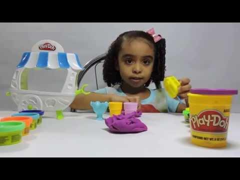 Massinha Play Doh Carrinho de Sorvete Play-Doh Ice Cream Unboxing Review