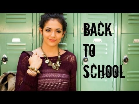 Fast & Fabulous: Back to school Hair, Makeup, Outfit!, Products used in this video: - Eclos Moisture Therapy Regenerative Cream - http://mygl.am/yt-812-eclos - Eclos Cellular Activator Facial Serum - http://mygl....