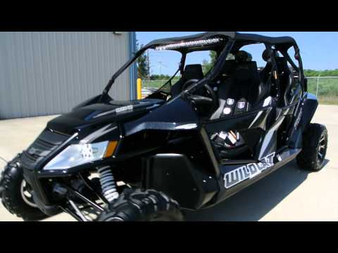 2013 Arctic Cat Wildcat 4 with SSV Work Speaker Pods, Crawl Tunes Rear Speakers