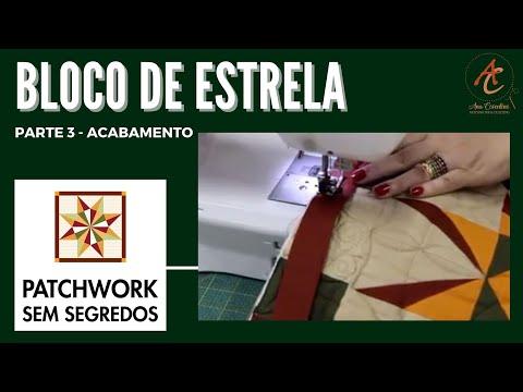Patchwork Sem Segredos com Ana Cosentino: Aula 03 (Como colocar o viés e fazer o canto mitrado)