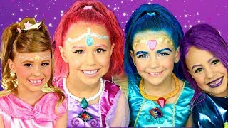 Shimmer ane Shine Makeup and Costume Compilation! Shimmer, Shine, Leah, and Zeta!