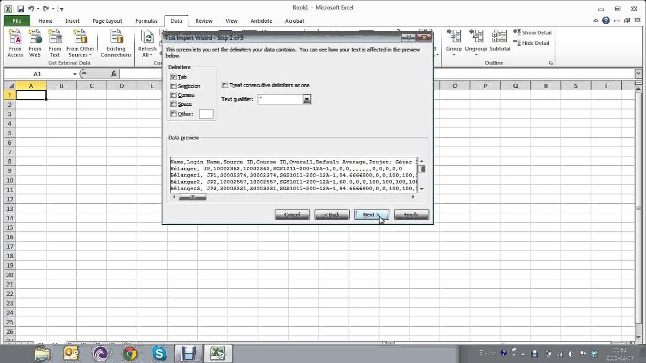 tutoriel  comment importer un fichier  csv en excel
