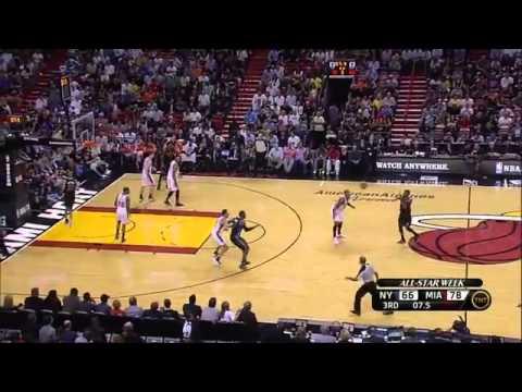 LeBron James 20 Points Heat vs Knicks Highlights 2_23_12