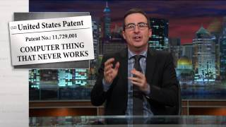 John Oliver: Patent Trolls Build Outdoor Ice Rink in Texas