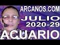 Video Horóscopo Semanal ACUARIO  del 12 al 18 Julio 2020 (Semana 2020-29) (Lectura del Tarot)