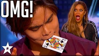 Card Magician Wows Tyra Banks on Stage! | America's Got Talent | Got Talent Global