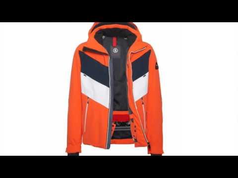 Bogner Manilo Mens Ski Jacket in Orange Navy