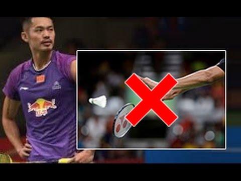 LIN DAN Service error - Badminton FUNNY Moments