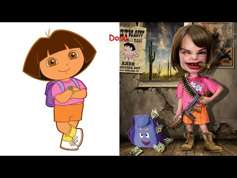 Cartoon Characters as VILLAINS | Disney Princesses As Monsters