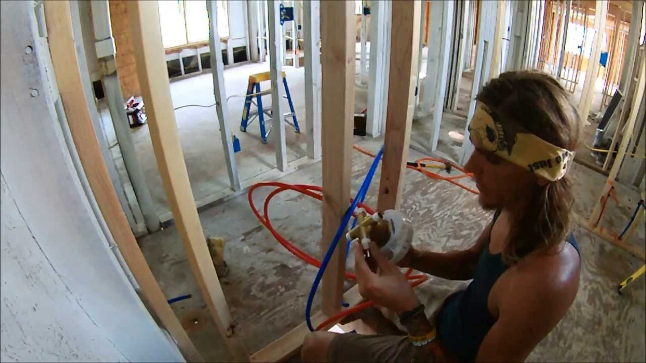 Plumbing A Tub Shower Rough In How To Youtube